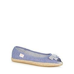 Mantaray - Girl's blue chambray espadrilles