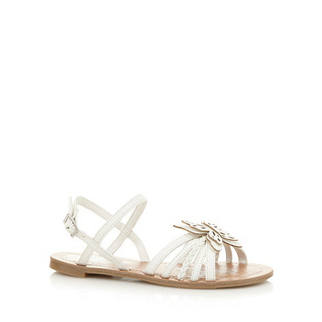 bluezoo - Girl+s white butterfly sandals