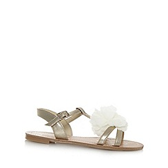 bluezoo - Girl's gold corsage sandals