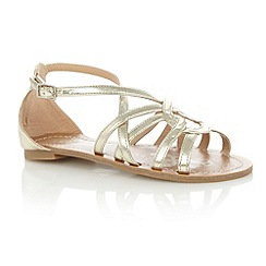 bluezoo - Girl's gold French knot sandals