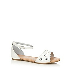 bluezoo - Girl's white cutout flower sandals