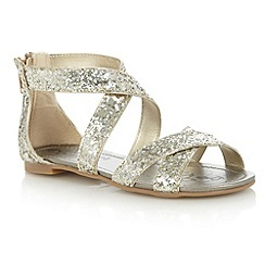 bluezoo - Girl's gold gladiator sandals