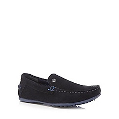 Baker by Ted Baker - Boys' navy suede driver shoes