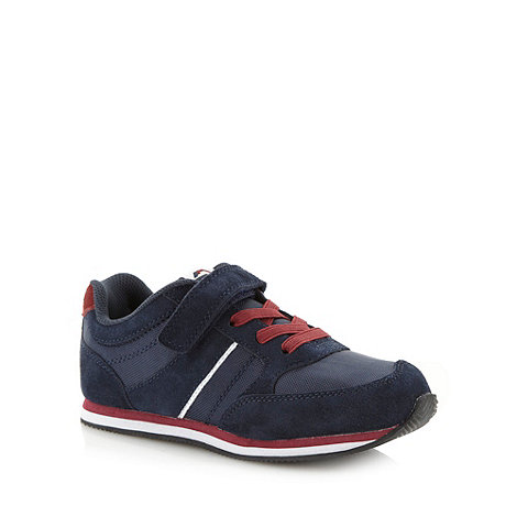 bluezoo - Boy+s navy rip tape strap trainers
