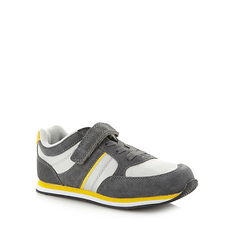 bluezoo - Boy+s grey rip tape strap trainers