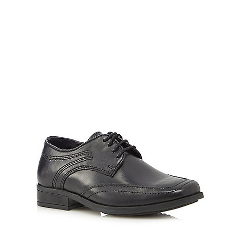 Debenhams - Boy+s black leather lace up shoes