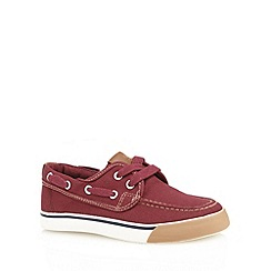 bluezoo - Boy's wine canvas boat shoes