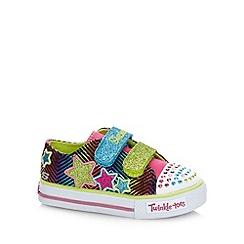 Skechers - Girl's rainbow glitter star 'Twinkle Toes' trainers