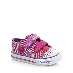 Skechers - Girl's pink 'Twinkle Toes' light up trainers