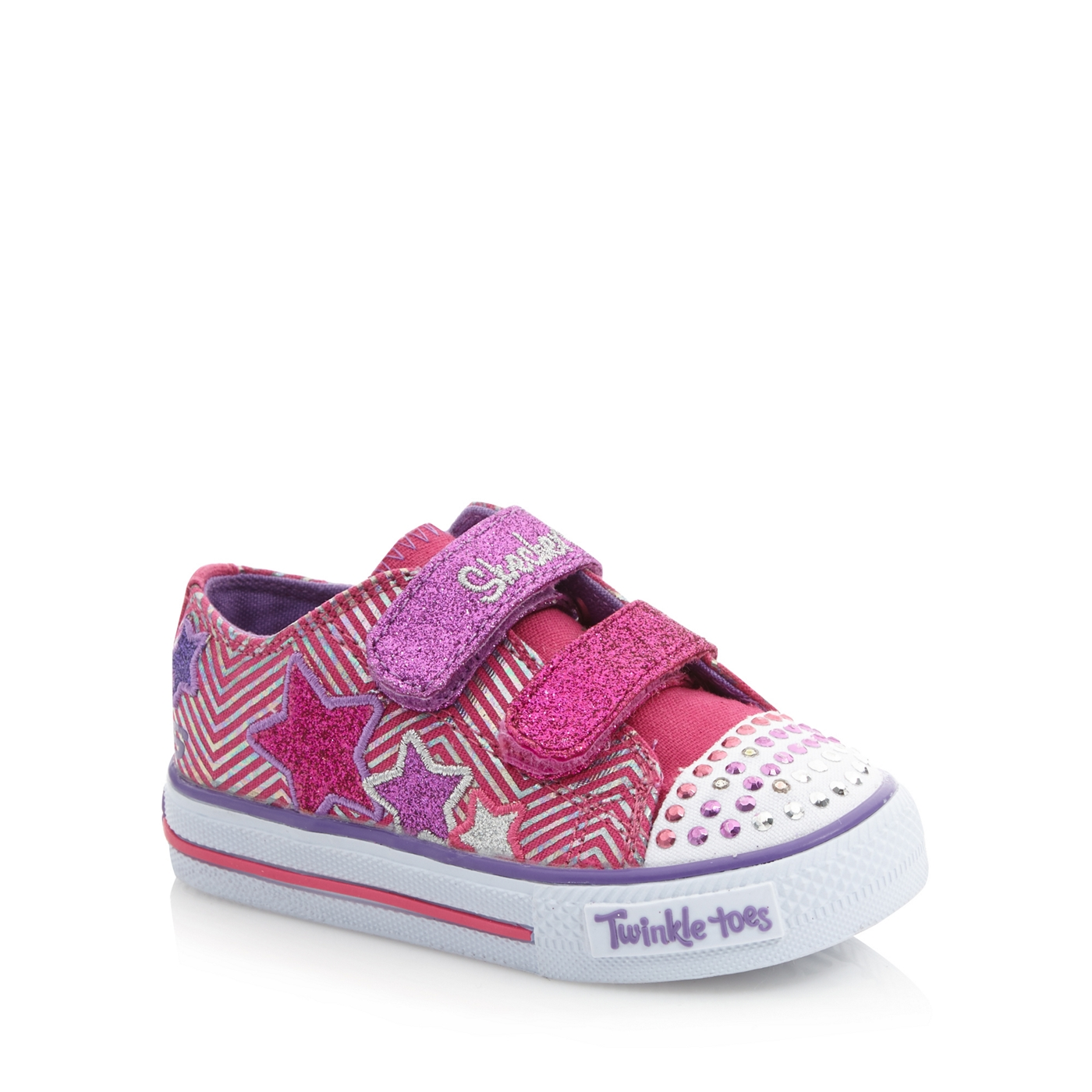 f94da10b6b48 Skechers Girls pink Twinkle Toes light up trainers on PopScreen