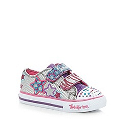 Skechers - Girl's silver 'Splendid Spells' trainers