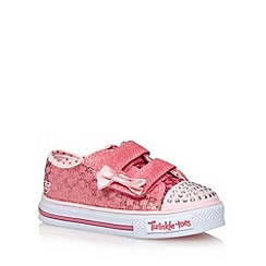 Skechers - Girl's pink glitter sequin 'Twinkle Toes' trainers