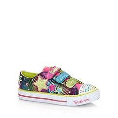 Skechers - Girl's rainbow glitter star 'Twinkle Toes' trainers