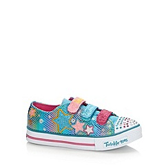 Skechers - Girl's pink glitter star 'Twinkle Toes' trainers