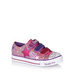 Skechers - Girl's pink 'Triple Up' trainers
