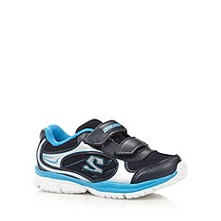 Skechers - Boy's blue 'Speedees Voler' rip tape trainers