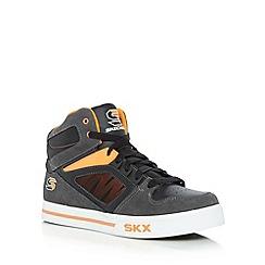 Skechers - Boy's orange 'SK High Top' trainers
