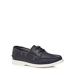 J by Jasper Conran - Boys' navy leather boat shoes