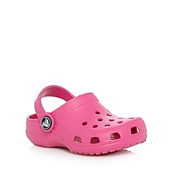 Crocs - Girl's pink plain Crocs