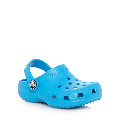 Crocs - Boy+s blue plain Crocs