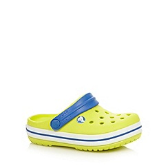 Crocs - Boy's lime striped trim sandals
