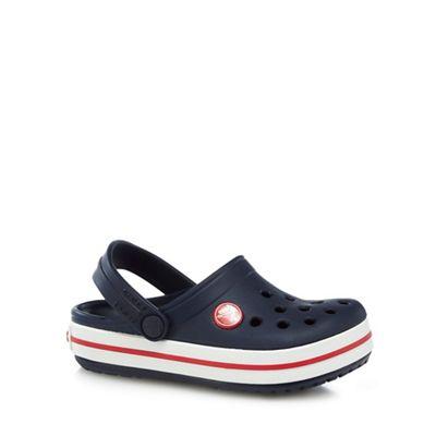 Boy´s navy stripe trim Crocs - . -