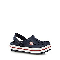 Crocs - Boy's navy stripe trim Crocs