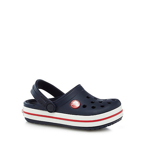 Crocs - Boy+s navy stripe trim Crocs