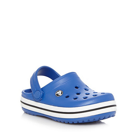 Crocs - Boy+s blue stripe trim Crocs