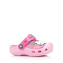 Crocs - Girl's pink 'Hello Kitty' tartan 'Crocs'