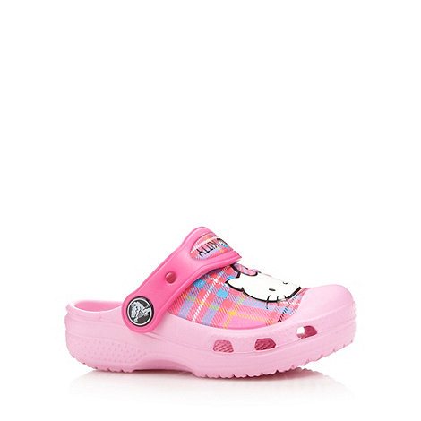 Crocs - Girl+s pink +Hello Kitty+ tartan +Crocs+