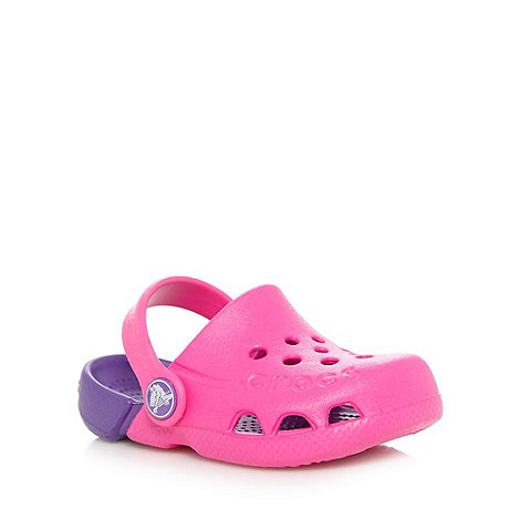 Crocs - Girl+s pink two tone Crocs