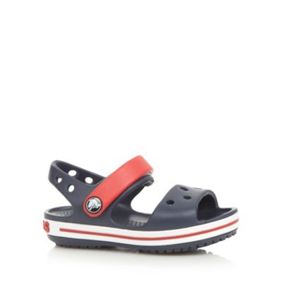 Boys navy moulded stripe ´Crocs´ sandals - . -