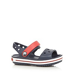 Crocs - Boys navy moulded stripe 'Crocs' sandals