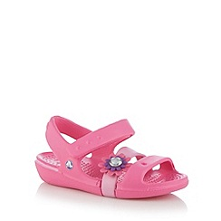 Crocs - Girl's pink 3D flower sandals