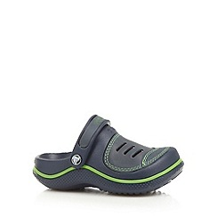 Crocs - Boy's navy moulded slingback 'Crocs' clogs