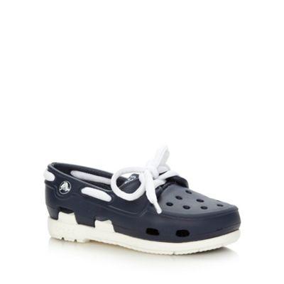 Boy´s navy boat shoe style Crocs - . -