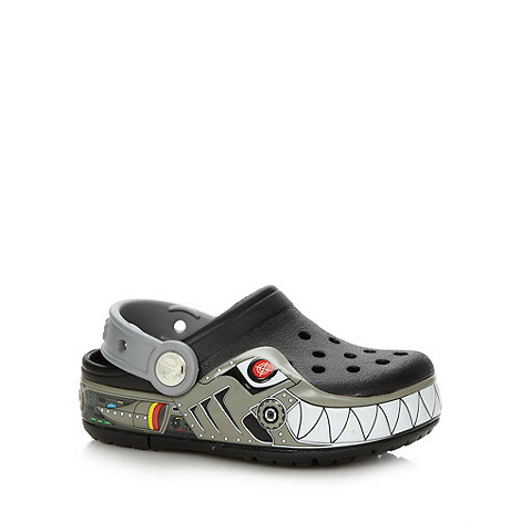 Crocs - Black +Robo cop+ design Crocs
