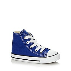 Converse - Boy's bright blue 'All Star' hi-top trainers