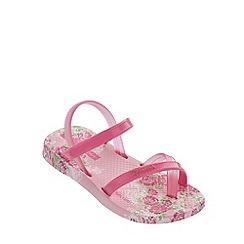 Ipanema - Girl's pink floral flip flops