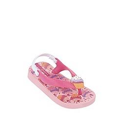 Ipanema - Girl's pink cupcake flip flops