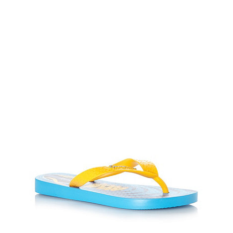 Ipanema - Boy+s blue laces print flip flops