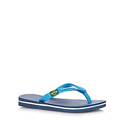 Ipanema - Boy's navy Rio flag flip flops