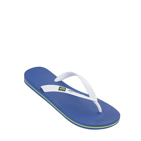Ipanema - Boy+s blue Rio flag flip flops