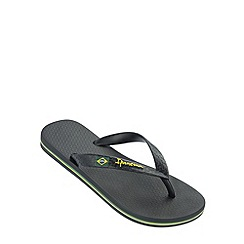 Ipanema - Boy's black Rio flag flip flops