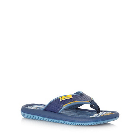Ipanema - Boy+s blue textured flip flops