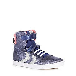 Hummel - Purple glitter hi top trainers