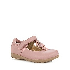 bluezoo - Girl's pink flower T-bar strap shoes