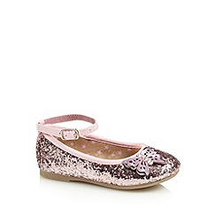bluezoo - Girl's pink glitter butterfly pumps