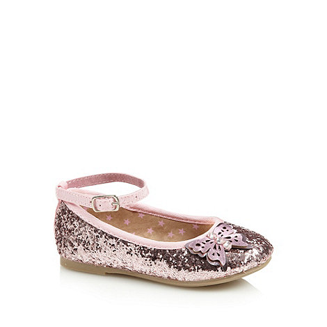 bluezoo - Girl+s pink glitter butterfly pumps